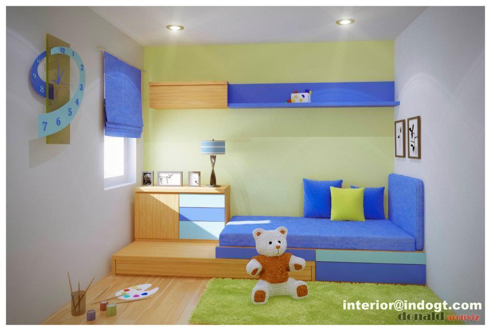 Simple De Sain Kamar Tidur Anak Minimalis